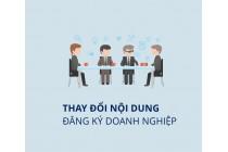 1 Thay đổi đăng ký kinh doanh